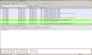 המסך המרכזי של Wireshark