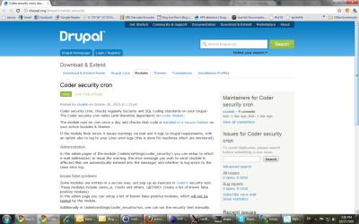 צילום מסך של המודול באתר דרופל
