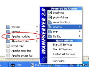 הפעלת rewrite module ב-WampServer