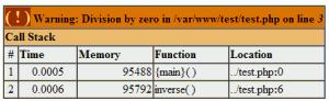 שגיאת PHP המתקבלת כתוצאה מחילוק באפס