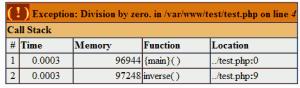 תקלת PHP שנובעת מ-Exception