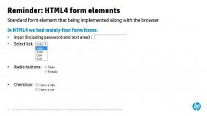 פקדים של HTML 4