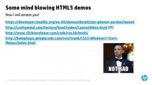 דמואים של HTML 5