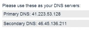 הגדרות DNS של unotelly