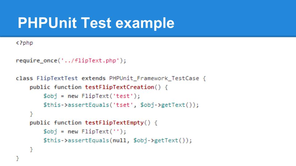 דוגמת קוד של בדיקה