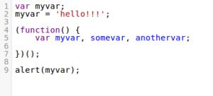 קוד בשפת JavaScript