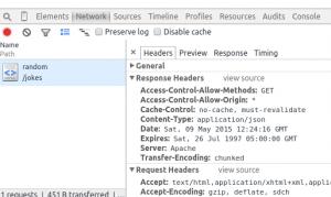 בדיקת headers בכלי הפיתוח של גוגל כרום
