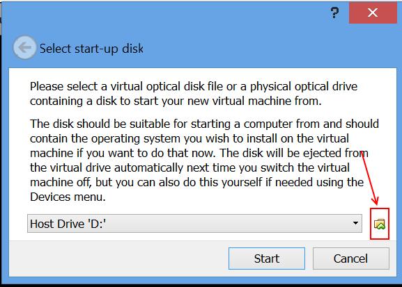 הפעלת המכונה לראשונה - בחירה בדיסק ההפעלה