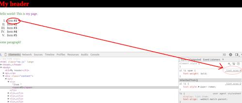בדיקה של אלמנט בדף דוגמה. מקור העיצוב הוא בקובץ SCSS