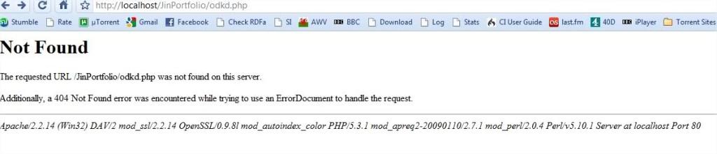 שגיאה של 'נתיב אינו נמצא' - מסך השגיאה אינו מעוצב.