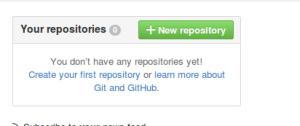 כפתור ירוק של הוספת new repository