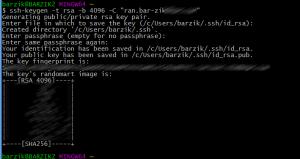 הצעד הראשון בהתקנת מפתח SSH