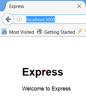 yeoman express generator browser main page