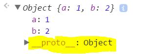 Object {a: 1, b: 2}a: 1b: 2__proto__: Object