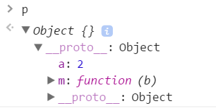 p Object {}__proto__: Objecta: 2m: (b)__proto__: Object