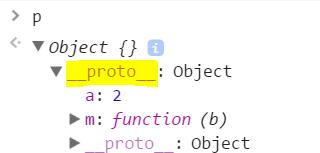 למשתנה p יש רק __proto__