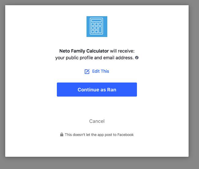 רישום לאפליקצית פייסבוק