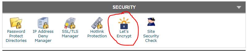 שירות lets encrypt במשק הניהול cpanel