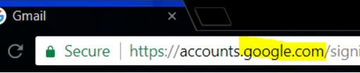 מבט לשורת הכתובות - google.com מופיעה שם