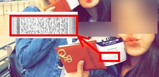 שימו לב לפרט הנסתר - הברקוד שיש בכרטיס הטיסה המצולם