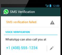 שליחת הסמס נכשלה, אנו יכולים לשלוח את המספר באמצעות שיחת טלפון