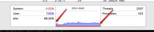 עלייה ב-CPU בכניסה לאתר וירידה ביציאה ממנו