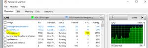 ניצולת גבוהה של CPU לאחר כניסה לאתר