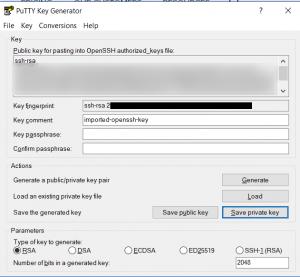 save key as ppk