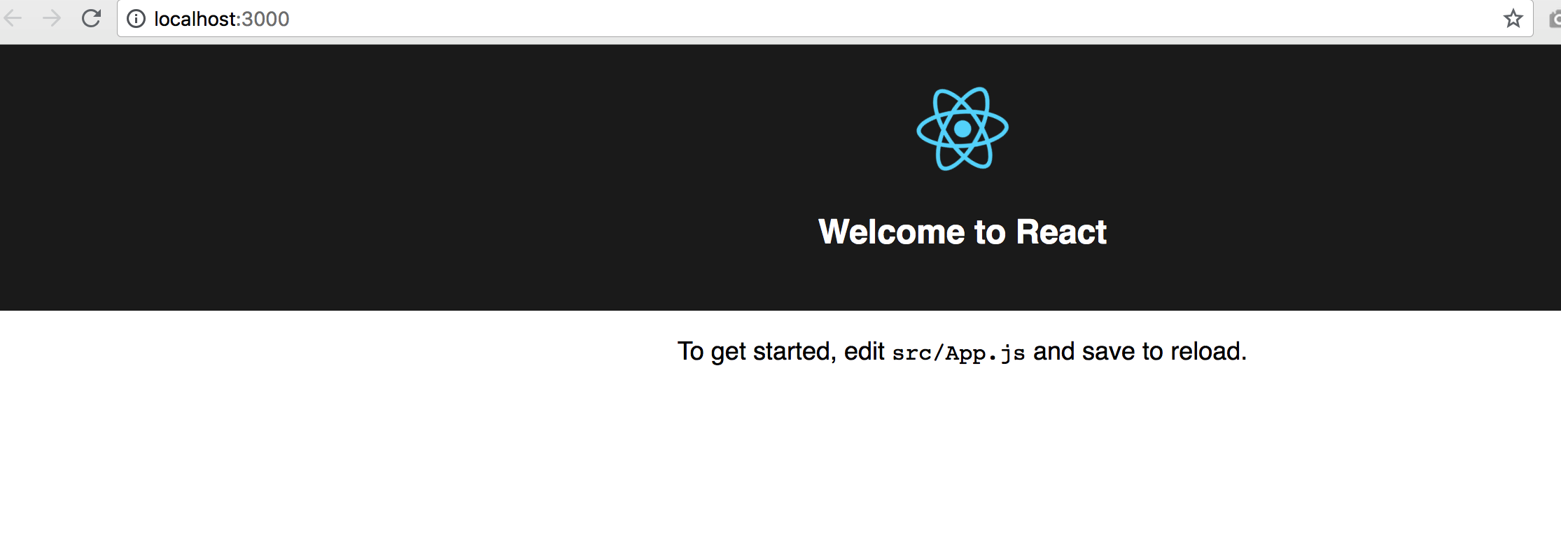 Welcome to React To get started, edit src/App.js and save to reload.