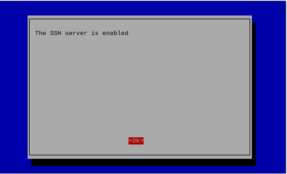 SSH Server is enabled