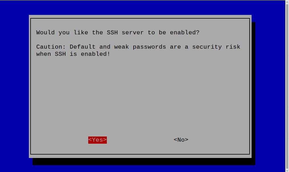 הפעלת SSH